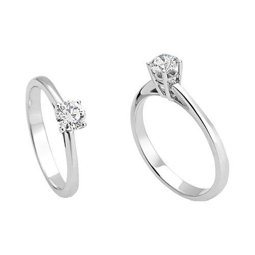 Anello Solitario Antologie Giorgio Visconti diamante kt. 0,05 e oro bianco AB10157E