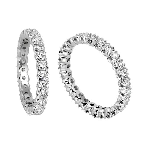 Anello Veretta Antologie Giorgio Visconti diamanti kt. 0,60 e oro bianco
