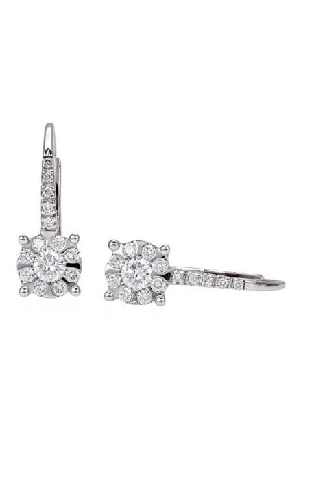 orecchini pendenti diamanti MARLENE di BIBIGI' kt.0.35