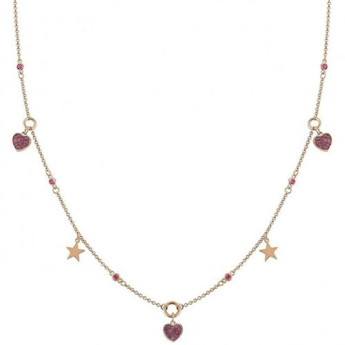NOMINATION Girocollo NIGHTDREAM Cuore Oro Rosa in argento + zirconi