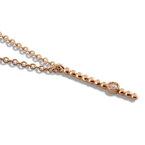 MORAGLIONE 1922 Mini Bubbles collana oro rosa e diamanti kt.0.03