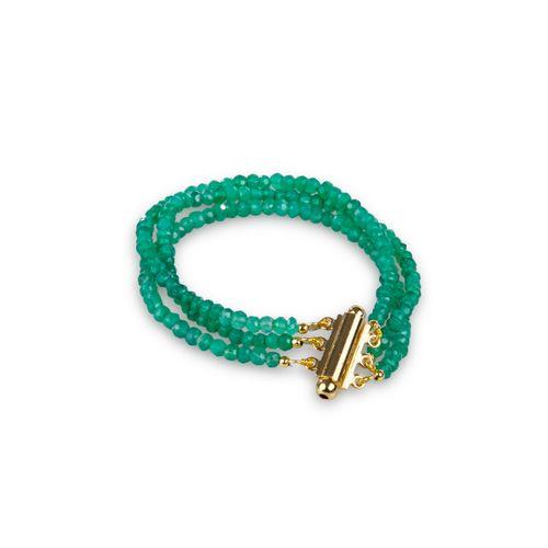 MIDI JEWELS bracciale 3 fili in agata verde