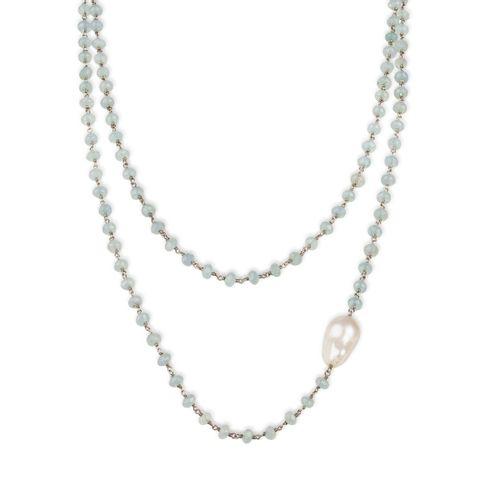 """MIDI JEWELS collana di acquamarina con perla barocca """"a rosario"""" in argento"""