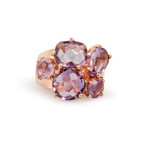 MIDI JEWELS anello con 5 pietre semi preziose