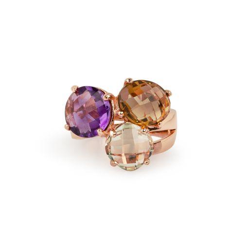 MIDI JEWELS anello 3 pietre semi preziose