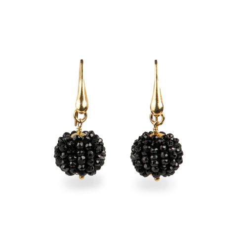 "MIDI JEWELS orecchini ""mora"" limited edition con spinello nero"