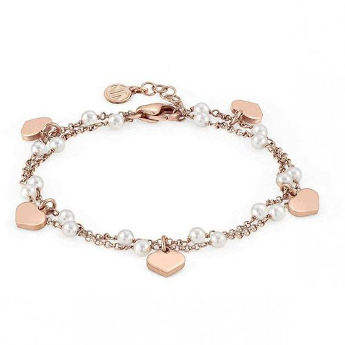 NOMINATION Bracciale argento rosato con perle MON AMOUR Cuore