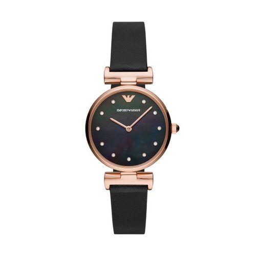 Emporio Armani orologio donna Gianni T-bar nero rose gold