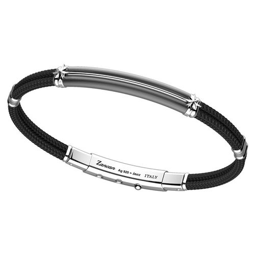 Zancan Bracciale Argento + Kevlar Nero ESB062-NE