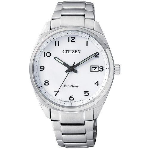 CITIZEN orologio donna acciaio con cassa bianca