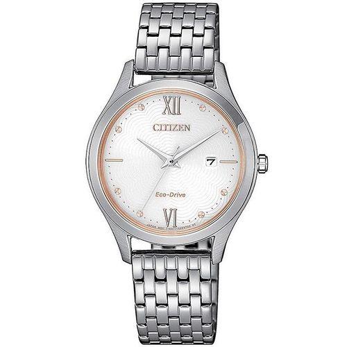 CITIZEN orologio donna acciaio con cassa color panna EW2536-81A