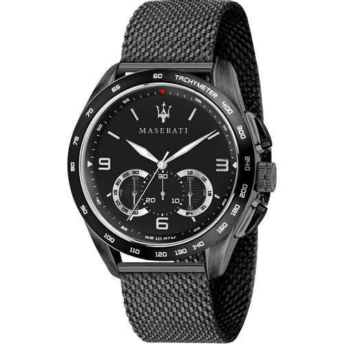 Orologio Maserati traguardo black dial black R8873612031