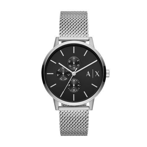 Armani Exchange Orologio Multifunzione Uomo Cayde Silver & Black in acciaio AX2714
