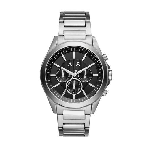 Armani Exchange Orologio Chrono Uomo Drexler Silver & Black in acciaio AX2600