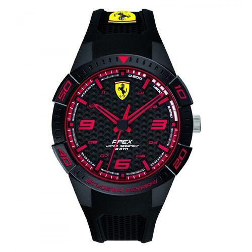 Orologio Ferrari Apex Uomo Nero Solo Tempo in ABS e cinturino in silicone nero FER0830747