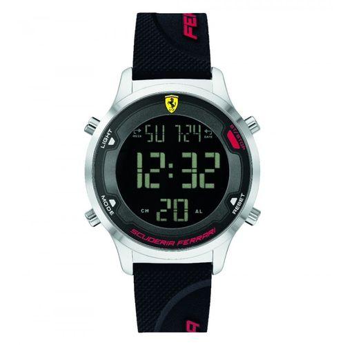 Orologio Ferrari Digitrack Digitale in Lega e cinturino in silicone nero FER0830756