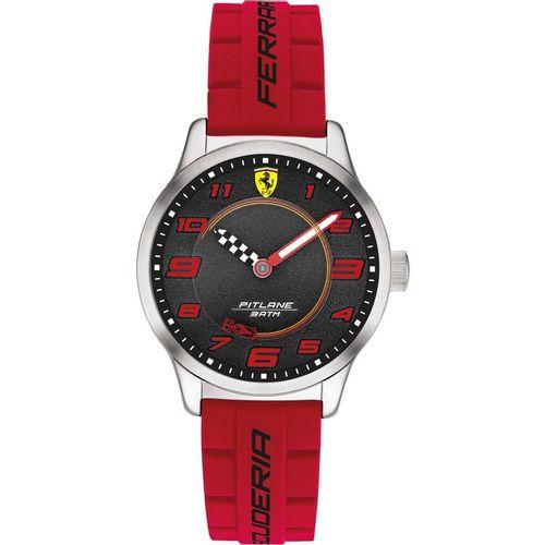 Orologio Ferrari Pitlane Rosso Solo Tempo in acciaio con cinturino in silicone FER0860013