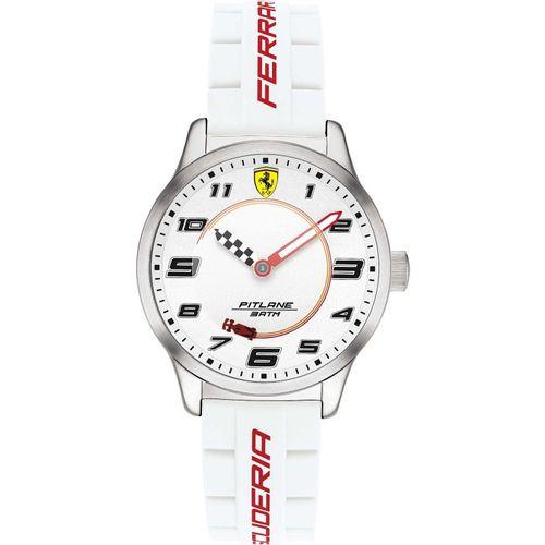 Orologio Ferrari Pitlane Bianco Solo Tempo in acciaio con cinturino in silicone FER0860014