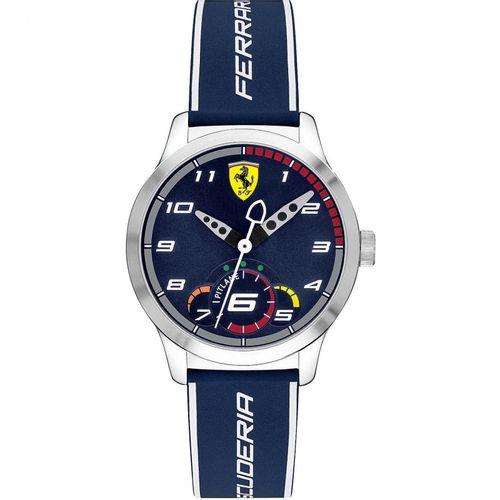 Orologio Ferrari Pitlane Blu Solo Tempo in acciaio con cinturino in silicone FER0860015
