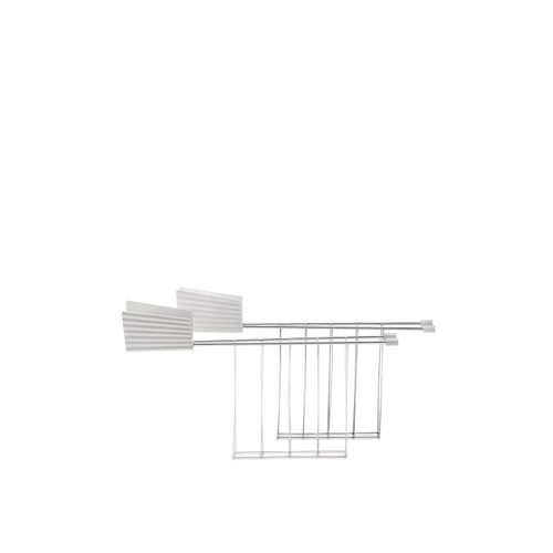 ALESSI Pinze Per Toaster Plissé con manico Bianco