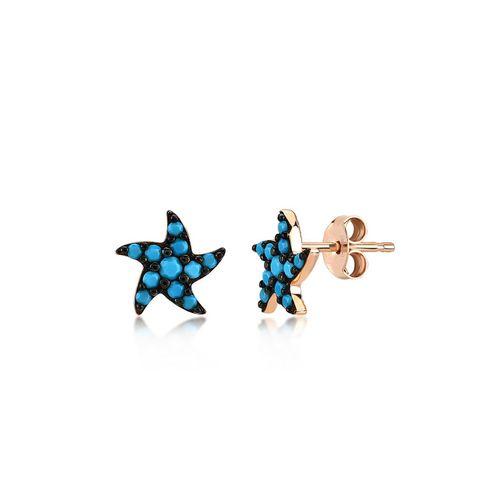 Kurshuni Orecchini Sea Star Rose Gold KY566-300RS