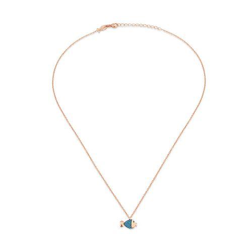 Kurshuni Collana Lucky Fish Rose Gold KY562-200RS