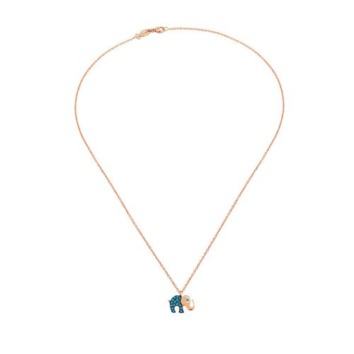 Kurshuni Collana Elephant Rose Gold KY537-200RS