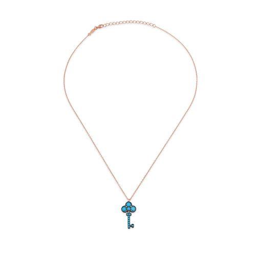 Kurshuni Collana Mini Key Rose Gold KY513-200RS